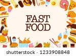 fast food frame illustration...   Shutterstock . vector #1233908848