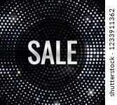sale banner. vector silver...   Shutterstock .eps vector #1233911362