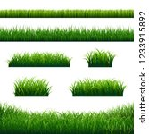 green grass borders big set... | Shutterstock .eps vector #1233915892
