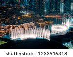 unique view of dubai dancing... | Shutterstock . vector #1233916318