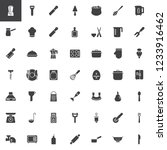kitchenware vector icons set ... | Shutterstock .eps vector #1233916462