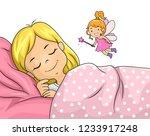 illustration of a kid girl... | Shutterstock .eps vector #1233917248