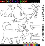 coloring book or coloring page... | Shutterstock .eps vector #123391852