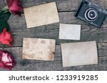 vintage background with old... | Shutterstock . vector #1233919285