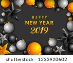 seasons greeting and happy new... | Shutterstock .eps vector #1233920602