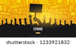 silhouettes crowd of people... | Shutterstock .eps vector #1233921832