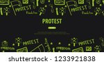 demonstration  manifestation ... | Shutterstock .eps vector #1233921838