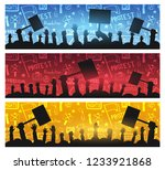 silhouettes crowd of people... | Shutterstock .eps vector #1233921868