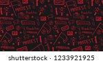 demonstration  manifestation ... | Shutterstock .eps vector #1233921925