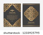 gold vintage greeting card on a ... | Shutterstock .eps vector #1233925795