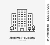 apartment building flat line... | Shutterstock .eps vector #1233927208