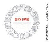 finance  money loan circle... | Shutterstock .eps vector #1233927472