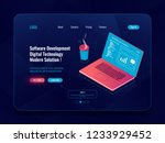 software development isometric  ... | Shutterstock .eps vector #1233929452