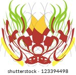 abstract mask | Shutterstock . vector #123394498