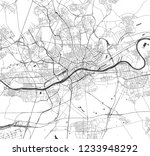 vector map of the city of... | Shutterstock .eps vector #1233948292