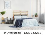 bright bedroom interior with... | Shutterstock . vector #1233952288