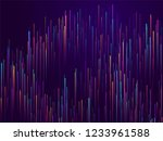 glowing lines falling abstract... | Shutterstock .eps vector #1233961588