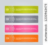 infographic design template.... | Shutterstock .eps vector #1233963475