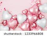 air balloons of heart shaped... | Shutterstock . vector #1233966808