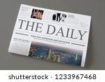 Stock photo the daily news newspaper mockup 1233967468