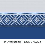 winter sweater fairisle design. ... | Shutterstock .eps vector #1233976225