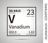 vanadium chemical element with...   Shutterstock . vector #1233976942