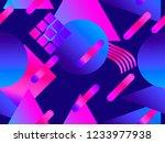 memphis seamless pattern....   Shutterstock .eps vector #1233977938