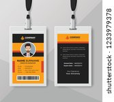 professional office id card... | Shutterstock .eps vector #1233979378