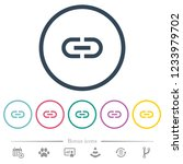 insert link flat color icons in ...   Shutterstock .eps vector #1233979702
