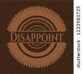 disappoint retro wooden emblem | Shutterstock .eps vector #1233983725