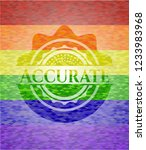 accurate emblem on mosaic... | Shutterstock .eps vector #1233983968
