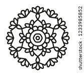 simple mandala shape for... | Shutterstock .eps vector #1233985852