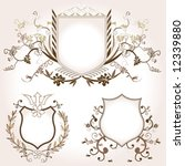 shield design set with various... | Shutterstock .eps vector #12339880