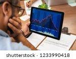 Closeup of a stock market...
