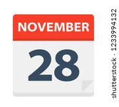 november 28   calendar icon  ... | Shutterstock .eps vector #1233994132