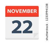 november 22   calendar icon  ... | Shutterstock .eps vector #1233994138