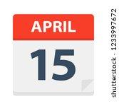 april 15   calendar icon  ... | Shutterstock .eps vector #1233997672