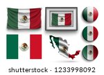 set of mexico flags collection... | Shutterstock .eps vector #1233998092