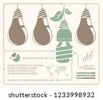 infographic of incandescent... | Shutterstock .eps vector #1233998932