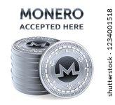 monero. accepted sign emblem.... | Shutterstock .eps vector #1234001518
