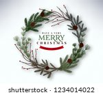 realistic merry christmas... | Shutterstock .eps vector #1234014022