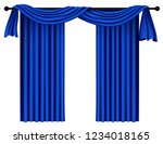 blue luxury curtains and...   Shutterstock .eps vector #1234018165