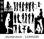 a collection of women... | Shutterstock .eps vector #12340189