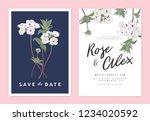 botanical wedding invitation... | Shutterstock .eps vector #1234020592