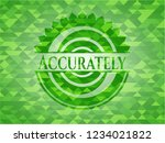 accurately green mosaic emblem | Shutterstock .eps vector #1234021822
