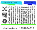 vector icons pack of 120 filled ... | Shutterstock .eps vector #1234024615