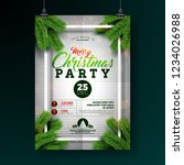 christmas party flyer... | Shutterstock .eps vector #1234026988