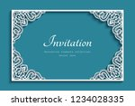 rectangle vector frame with... | Shutterstock .eps vector #1234028335
