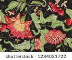 seamless pattern with stylized... | Shutterstock .eps vector #1234031722