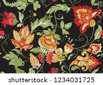seamless pattern with stylized... | Shutterstock .eps vector #1234031725